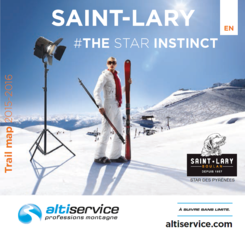 Trail map of Saint-Lary, Pyrenees