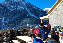 The high altitude accommodation in Saint-Lary, Pyrenees