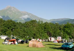 Camp sites of Saint-Lary in summer, in Pyrenees