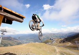 Mountain Bike-Park to Saint-Lary, in Pyrenees