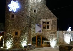 The National Park Centre of Pyrenees, by night