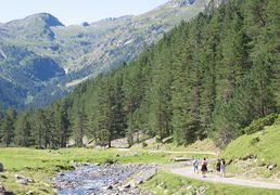 The valley of Rioumajou, close to Saint Lary in Pyrenees
