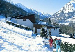 The Lauregon village, a vacation village of Saint-Lary, Pyrenees