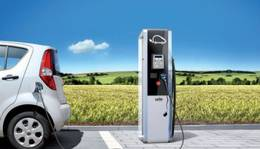 Rechargeable charging station for electric car in Saint-Lary