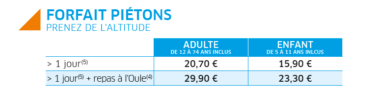 The pedestrian fixed prices winter of Saint-Lary in Pyrenees