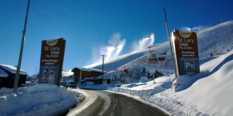 Access to the resort of Saint-Lary, in Pyrenees