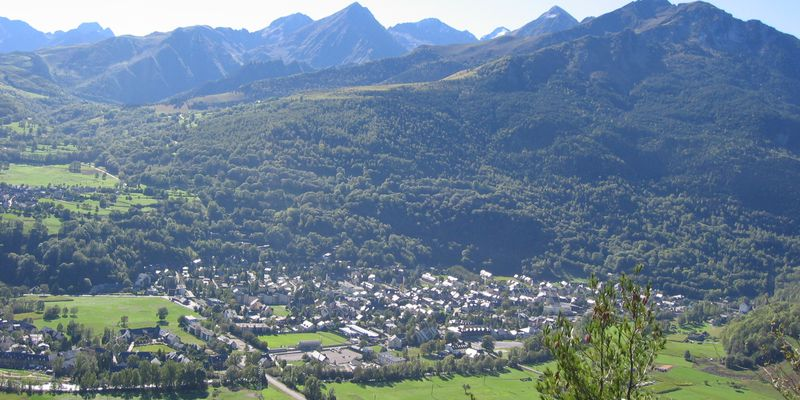 Saint-Lary, village of Pyrenees, in summer