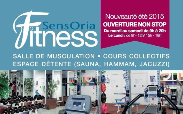 Weights room and relaxing space of Sensoria Fitness, Saint-Lary