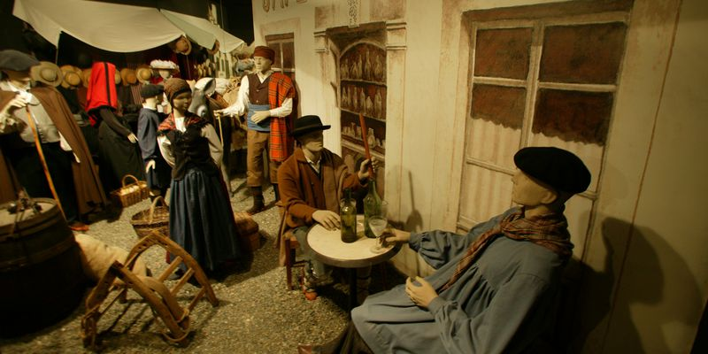Reconstruction of the life of former days to Saint-Lary in Pyrenees
