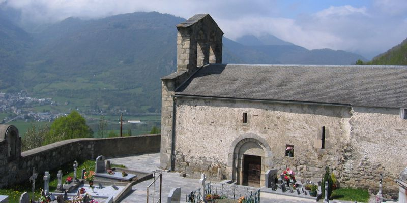 The chapel of the cemetery of Ens, next to Saint-Lary in Pyrenees