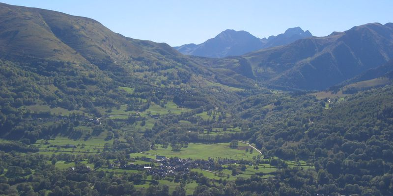 The Valley of Aure in summer, when is situated Saint-Lary in Pyrenees.