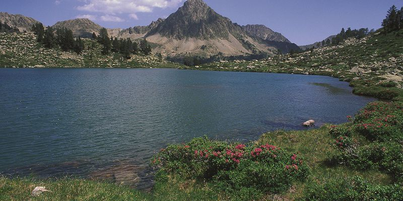 A lake of Pyrenees in summer, close to Saint-Lary