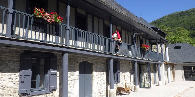 interior court of heritage house in Saint-Lary