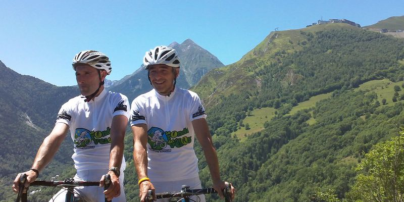 The cycling in summer in the Pyrenees in Saint-Lary