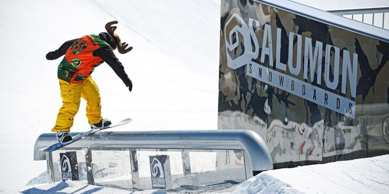 Snowpark of Saint-lary, star resort of Pyrenees