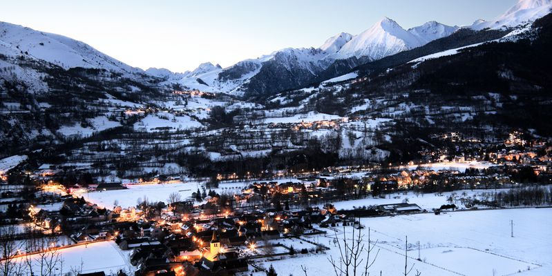 The valley of snowy Aure, Pyrenees
