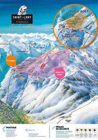 slopes map of Saint-Lary, Pyrenees