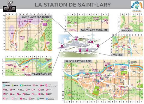 Village and station map of Saint-Lary, in Pyrenees