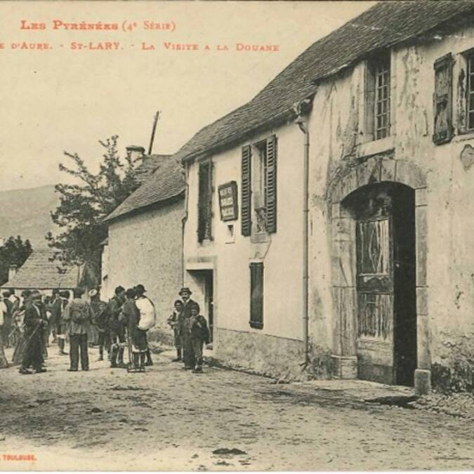 Photo anciennes douane, Saint-Lary